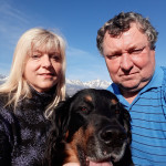 naše selfie s Tatrami